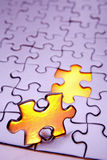 Last piece of puzzle Royalty Free Stock Photos