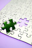 Last piece of puzzle Stock Photos