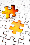 Last piece of puzzle Stock Photography