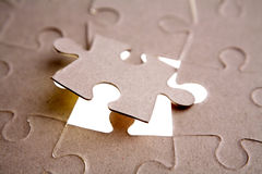 Last piece of puzzle Royalty Free Stock Photography