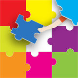 The Last Piece of the Puzzle Royalty Free Stock Photography
