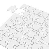 Last Piece of Puzzle. The last piece of jigsaw puzzle concept for solution and completion Stock Photo