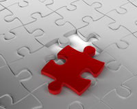 Last Piece of the Puzzle Royalty Free Stock Image