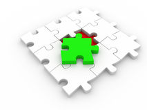 Last piece of puzzle Stock Images