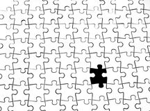 The last pieceof the puzzle. White puzzle without the last piece Stock Photo
