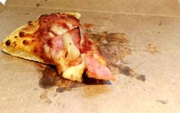 The last pizza slice Royalty Free Stock Photo