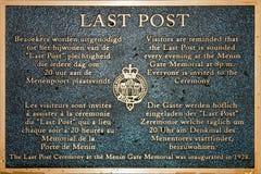 Last post at Ypres Menin gate memorial Stock Photo