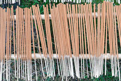The last process of incense is to drying it Stock Photography