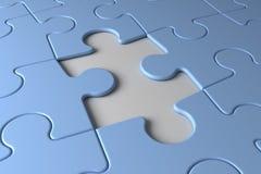 Last puzzle Stock Photography