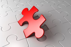 Last puzzle. Put a last puzzle, 3d illustration royalty free stock photography