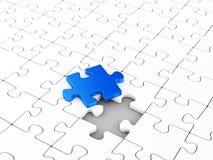 Last puzzle element Stock Image