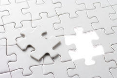 Last puzzle piece. Royalty Free Stock Photography