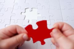 The last puzzle piece of a Jigsaw puzzle Royalty Free Stock Image