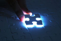 Last puzzle piece Stock Photos