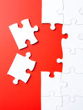 Last puzzle pieces Stock Photography