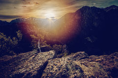 The last ray of light Royalty Free Stock Images