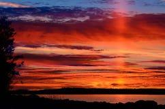 The last ray of the setting sun. Karelia, Russia. Last ray of the setting sun. Northern Karelia, Russia Stock Photography