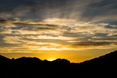 Last rays. Last golden rays of sunshine Laughlin Nevada Royalty Free Stock Image