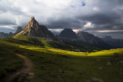 Last rays on the italian alps Stock Photography