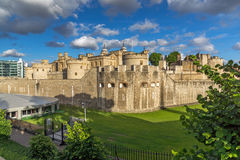 Last Rays of sun over Historic Tower of London, England Royalty Free Stock Photography