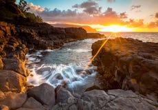 Rays of sunset stock image