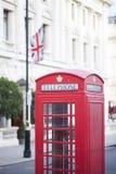Last red telephone cabin  London 2017 Stock Photos