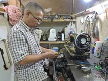 The Last Repairman stock photo