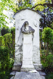 Last Resting Place of composer Brahms at the Vienna Central Cemetery. VIENNA, AUSTRIA - APR 26, 2015: Last Resting Place of composer Brahms Grave at the Vienna stock images