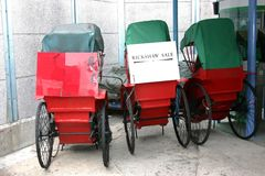 Last rickshaw of Hong Kong Stock Photos