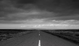 Last Road. The road to John O`Groats Royalty Free Stock Photos