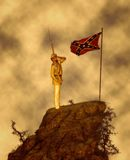 Last Salute Confederate States of America Illustration Royalty Free Stock Image