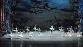 The last scene of Swan Lake-ballet Swan Lake Royalty Free Stock Photography