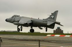 The last Sea Harrier landing Stock Photo