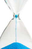 Last second. Hourglass indicating the last second, isolated against a white background Stock Photos