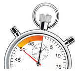 Last seconds on a stopwatch Royalty Free Stock Photos