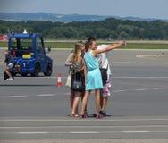 Last selfie before departure Stock Photo