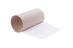 Last sheet of toilet paper Stock Photo
