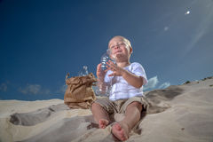 Last Sip Of Water Royalty Free Stock Photography