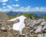Last snow in the Allgau Alps Royalty Free Stock Photo