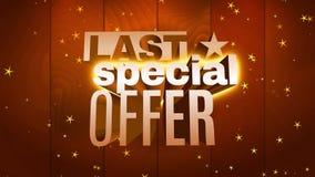 Last special offer big sale promotion