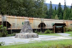 The Last Spike of the Canadian Pacific Railway Royalty Free Stock Photo