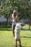 ' last splash ' Obraz Stock
