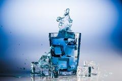 ' last splash ' szklana wody Fotografia Royalty Free