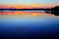 Last splLast. Lake Engozero, North Karelia, Russia Stock Image