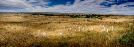 Last Stand Hill - Custer`s last stand royalty free stock photo