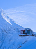 Last station at the top of Kaprun glacier in Austrian Alps Stock Photography
