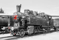 Historical Hungarian steam locomotive Stock Photography
