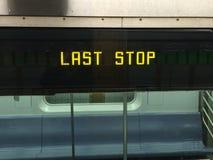 Last Stop, iPhone photo. Royalty Free Stock Photos