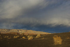 Last sun light near Ubehebe Crater, California Stock Photography