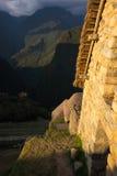 Last sunlight on Machu Picchu, Peru Royalty Free Stock Photography